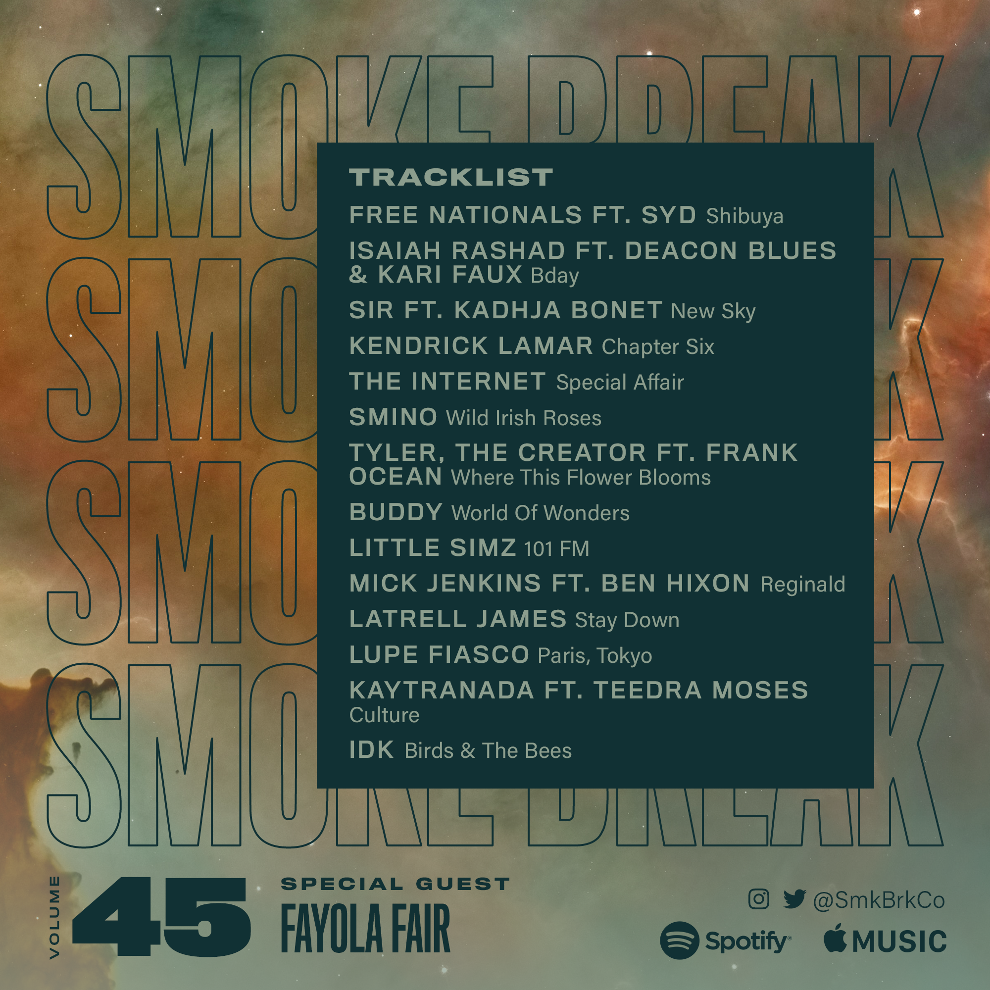SMK BRK playlist vol 45 back cover