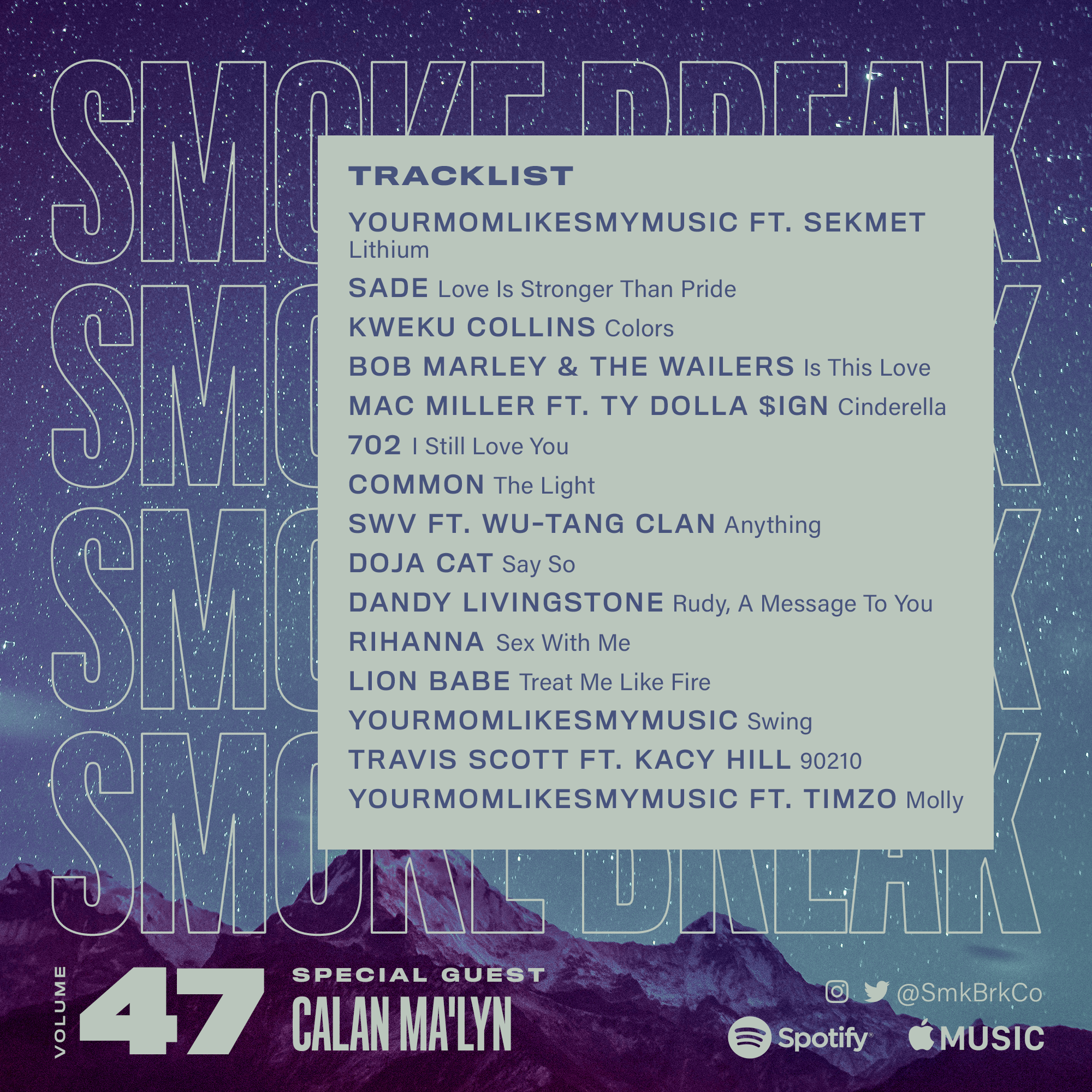 SMK BRK playlist vol 47 back cover
