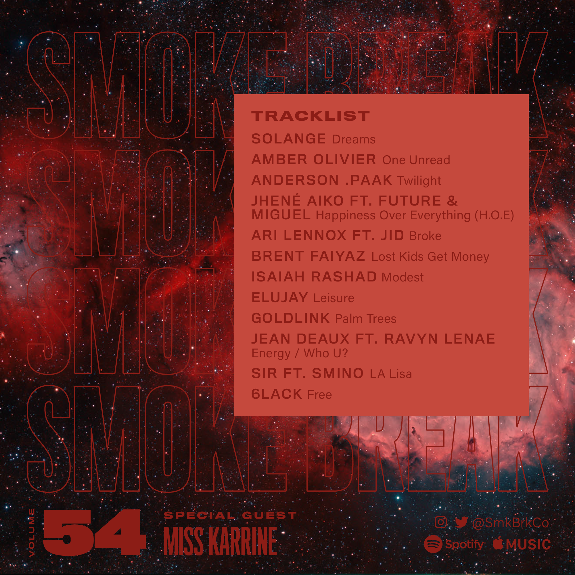 SMK BRK playlist vol 54 back cover