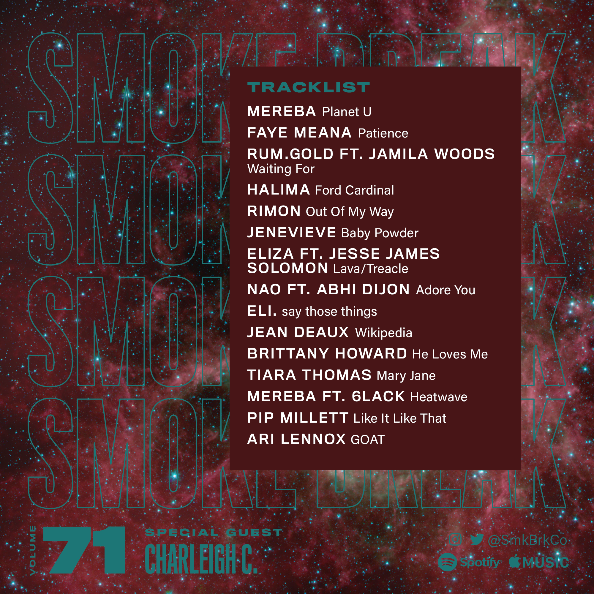 SMK BRK playlist vol 71 back cover