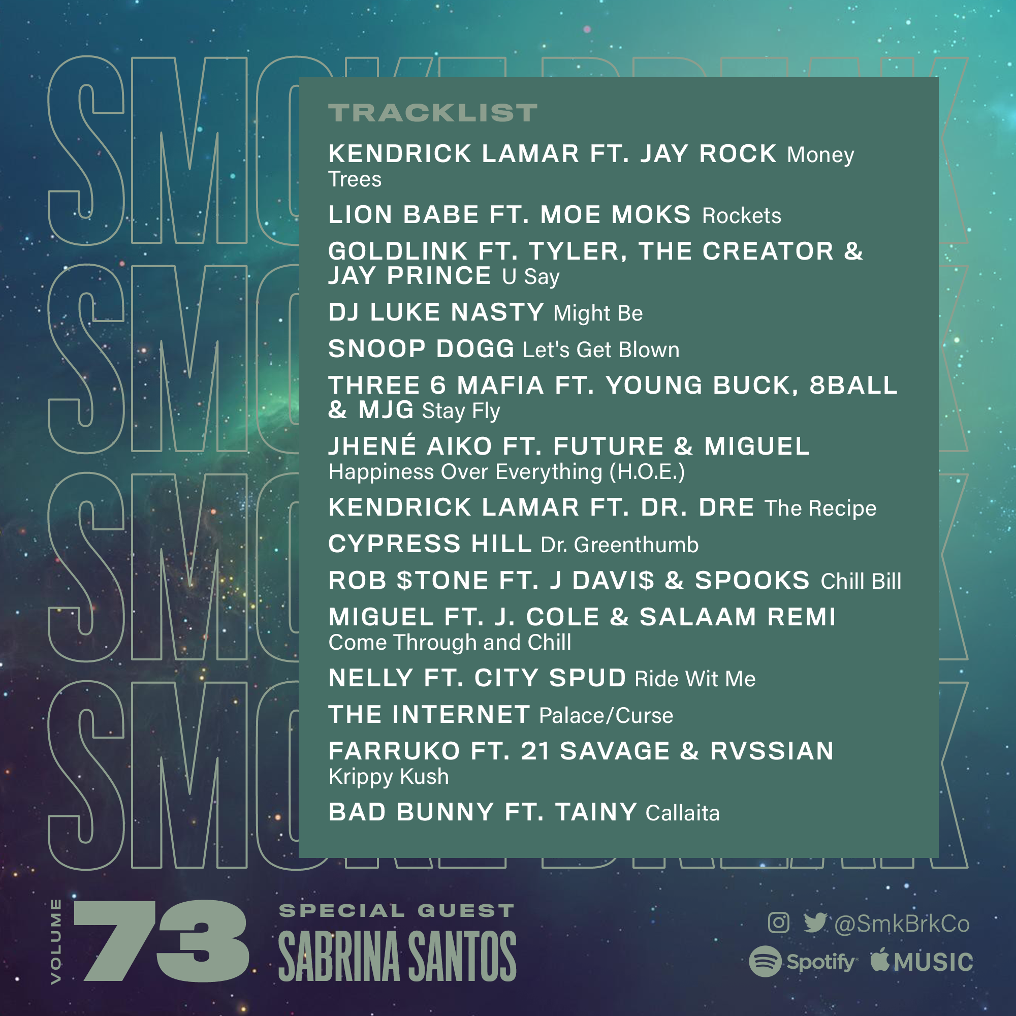 SMK BRK playlist vol 73 back cover
