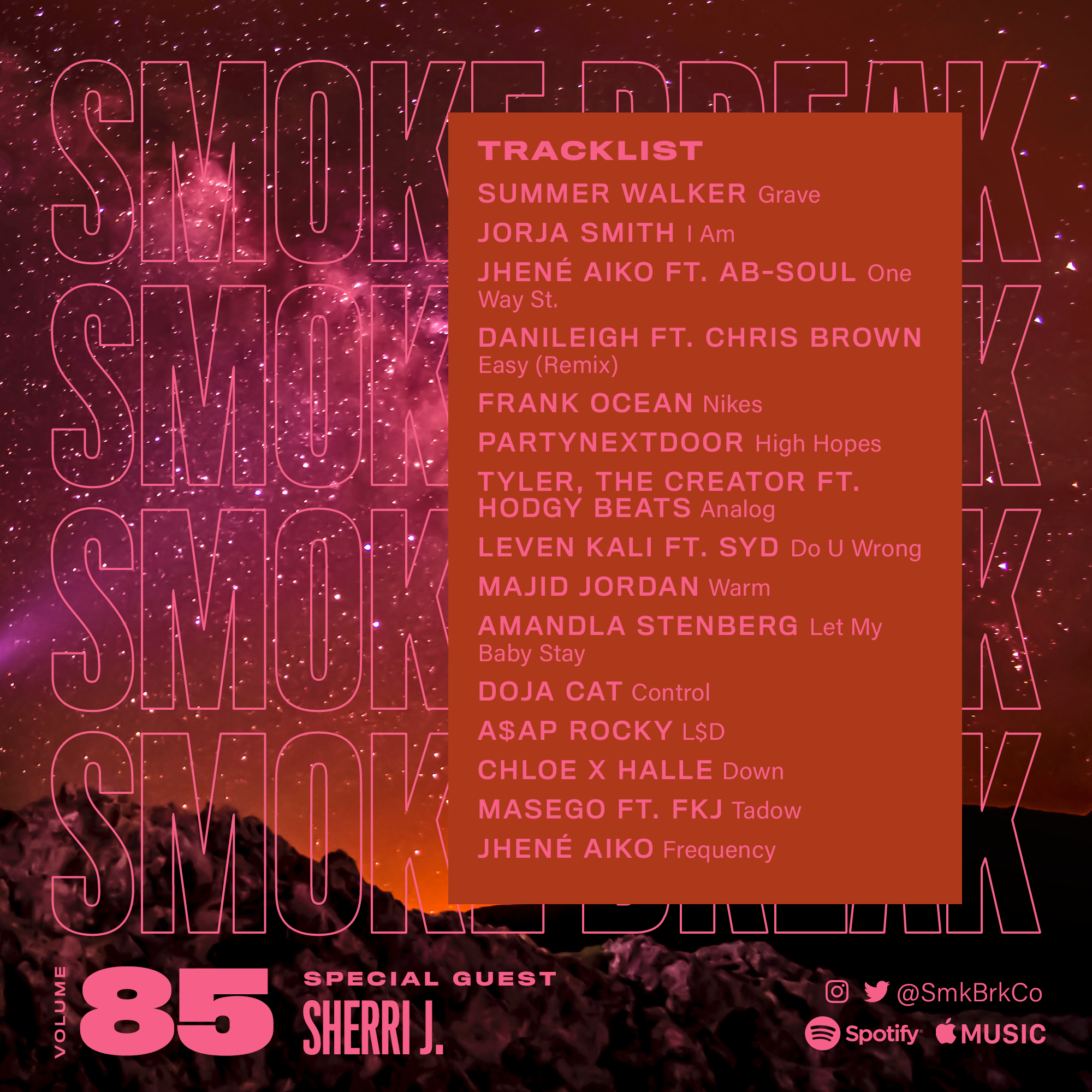 SMK BRK playlist vol 85 back cover