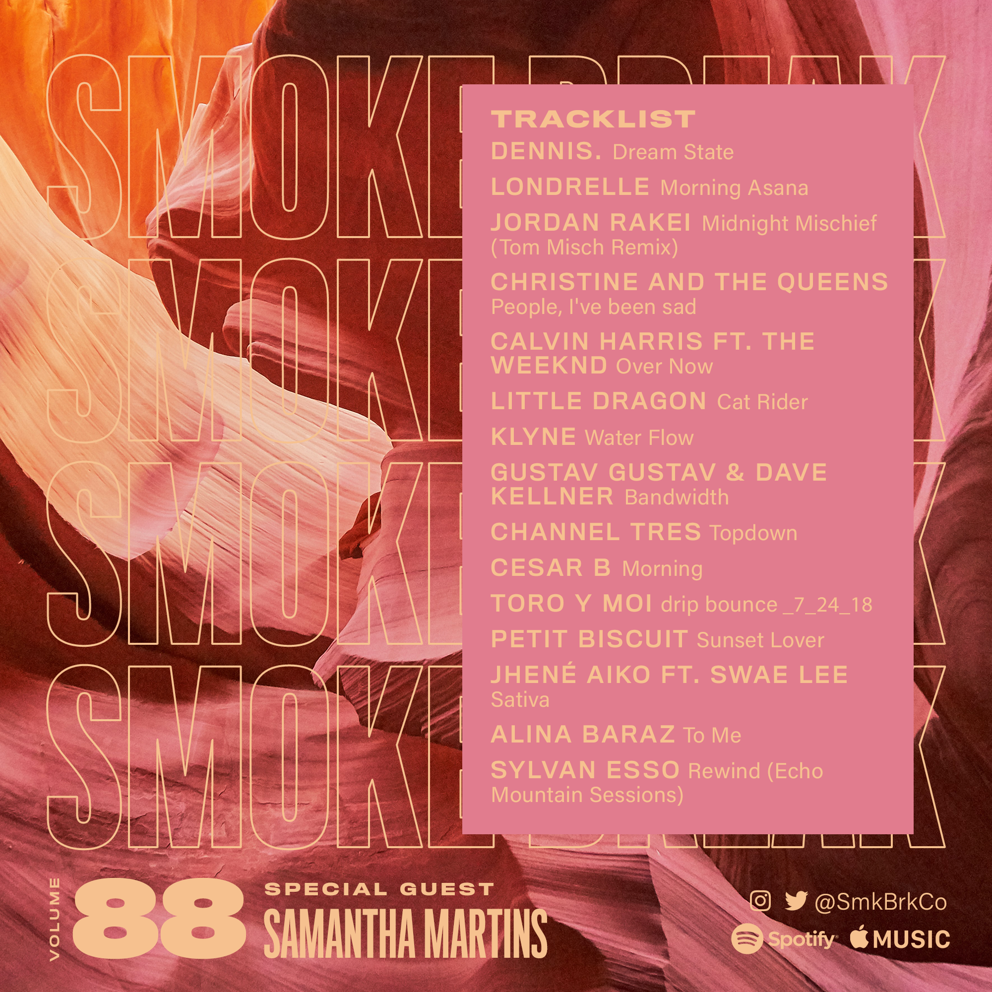 SMK BRK playlist vol 88 back cover