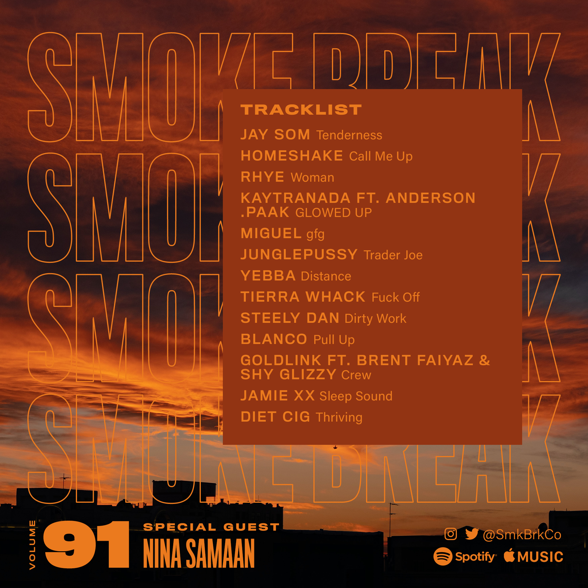 SMK BRK playlist vol 91 back cover