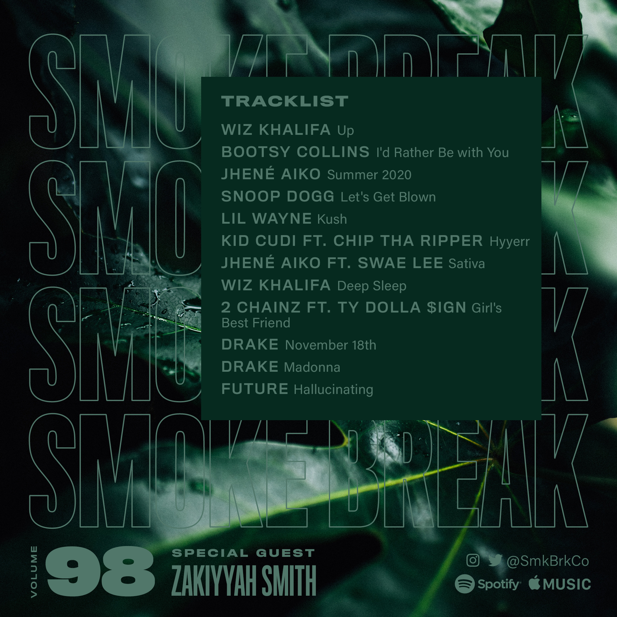 SMK BRK playlist vol 98 back cover