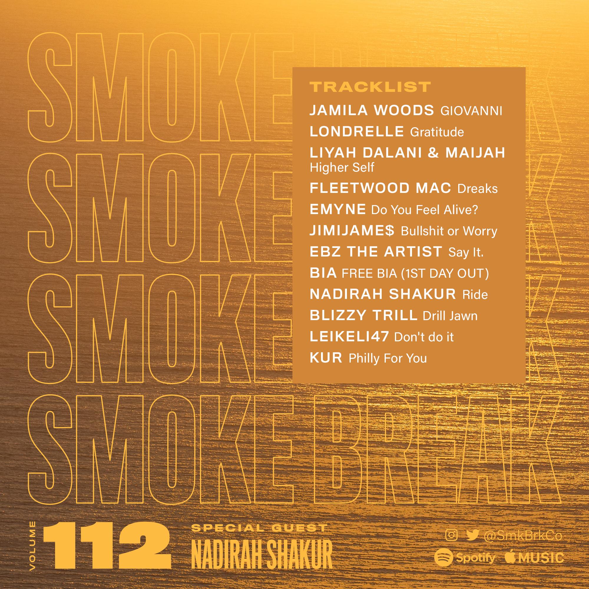 SMK BRK playlist vol 112 back cover nadirah shakur