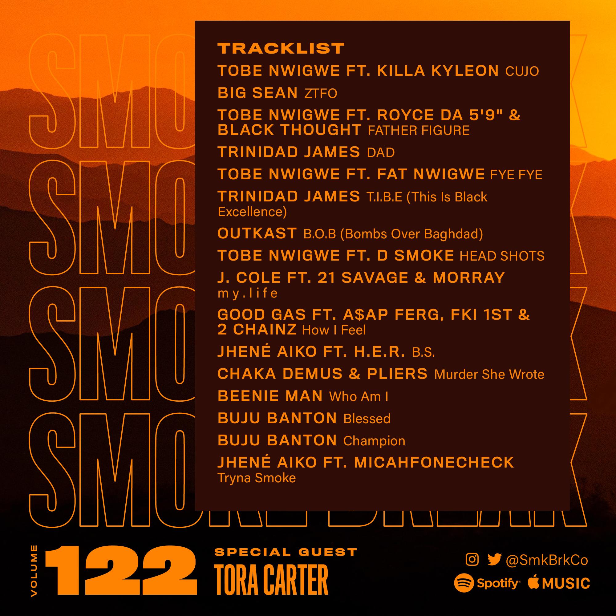 SMK BRK playlist vol 122 back cover tora carter